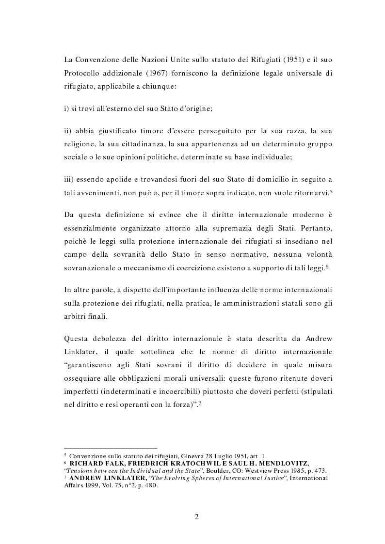 Anteprima della tesi: La questione di rifugiati e sfollati al confine tra Thailandia e Birmania: profili di Diritto Internazionale, Pagina 2
