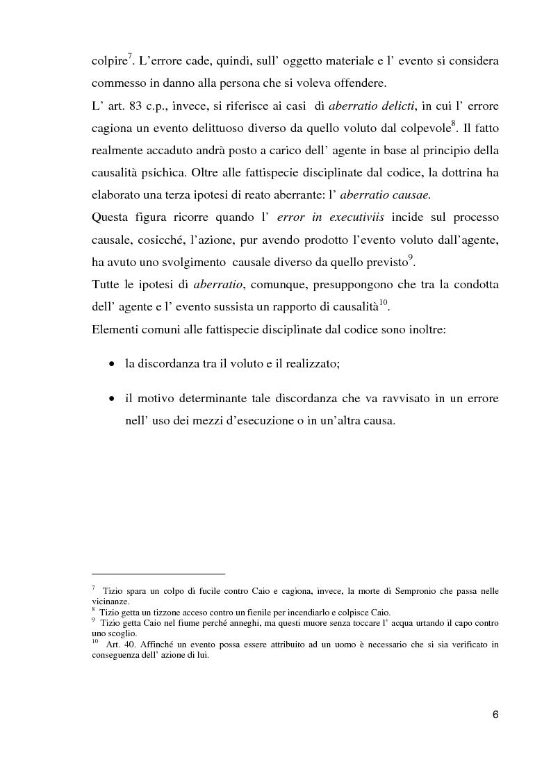 Anteprima della tesi: Il reato aberrante, Pagina 3
