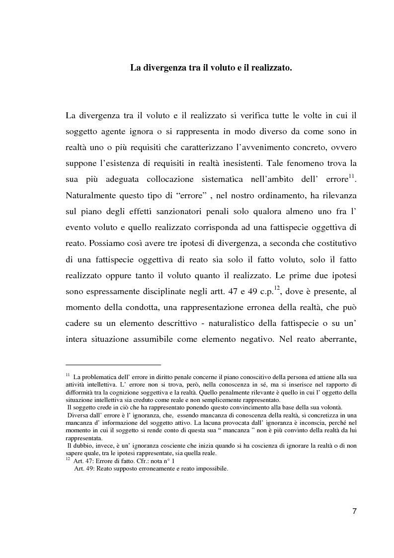 Anteprima della tesi: Il reato aberrante, Pagina 4