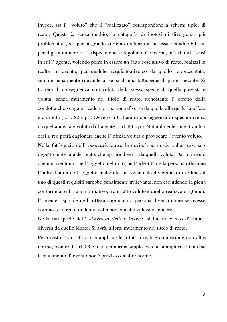 Anteprima della tesi: Il reato aberrante, Pagina 5