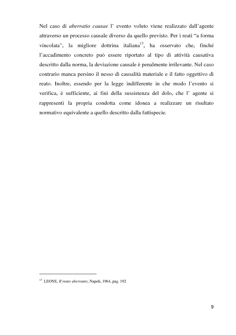 Anteprima della tesi: Il reato aberrante, Pagina 6