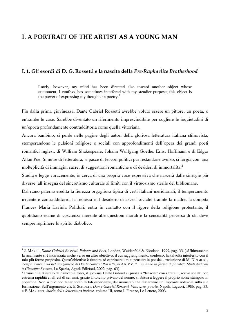 """Anteprima della tesi: Metafore ed icone stilnoviste in """"Hand and Soul"""" di Dante Gabriel Rossetti, Pagina 2"""