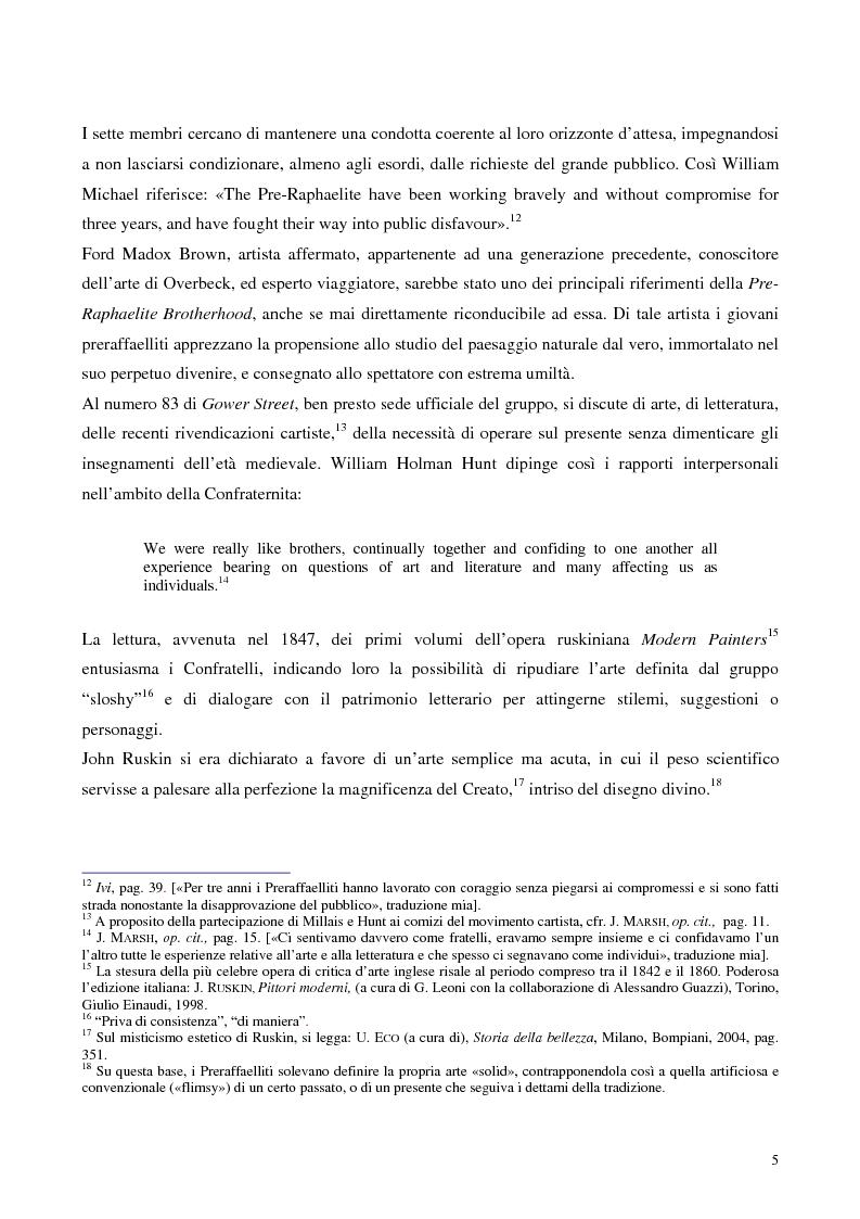 """Anteprima della tesi: Metafore ed icone stilnoviste in """"Hand and Soul"""" di Dante Gabriel Rossetti, Pagina 5"""