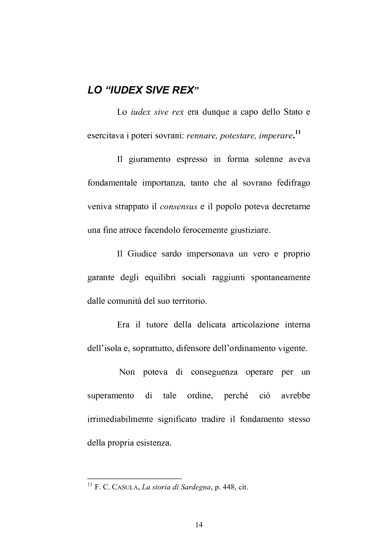 Anteprima della tesi: Istituzioni e amministrazione della giustizia nel Giudicato di Eleonora di Arborea secondo la Carta de Logu, Pagina 11