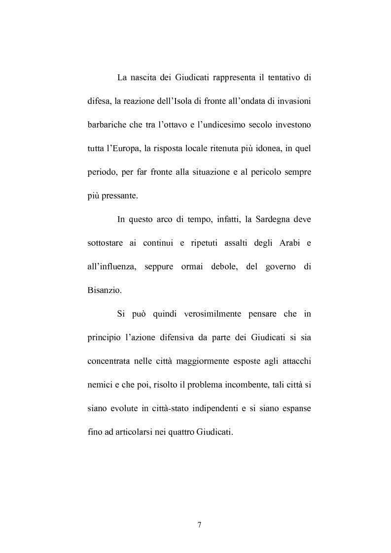 Anteprima della tesi: Istituzioni e amministrazione della giustizia nel Giudicato di Eleonora di Arborea secondo la Carta de Logu, Pagina 4