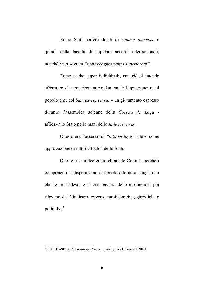 Anteprima della tesi: Istituzioni e amministrazione della giustizia nel Giudicato di Eleonora di Arborea secondo la Carta de Logu, Pagina 6