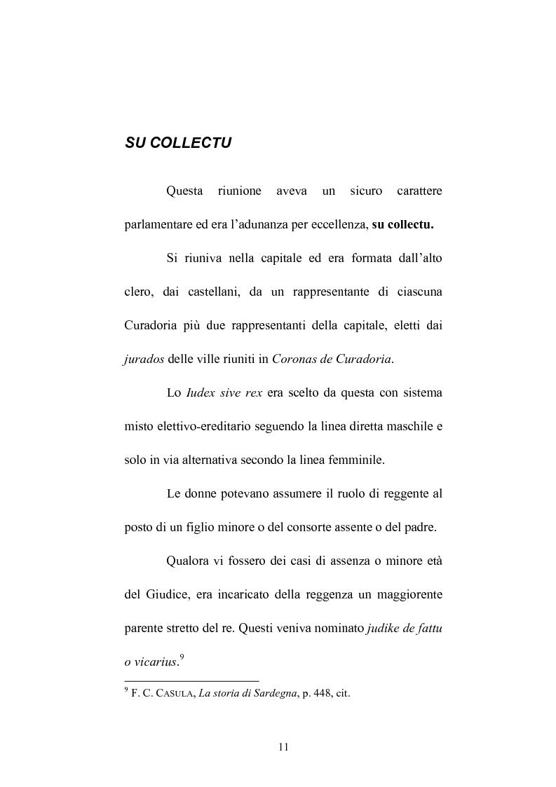 Anteprima della tesi: Istituzioni e amministrazione della giustizia nel Giudicato di Eleonora di Arborea secondo la Carta de Logu, Pagina 8