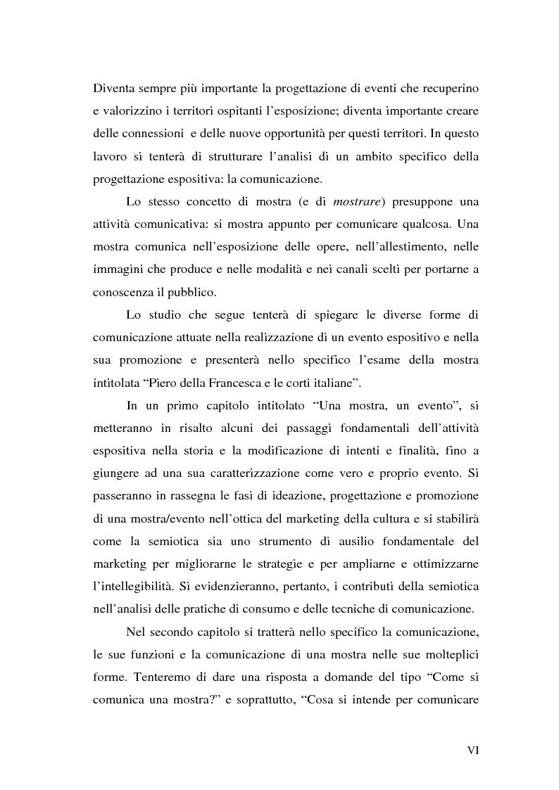 """Anteprima della tesi: Comunicare una mostra: """"Piero della Francesca e le corti italiane"""" Arezzo 22 Marzo - 31 luglio 2007, Pagina 4"""