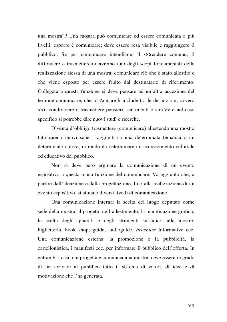 """Anteprima della tesi: Comunicare una mostra: """"Piero della Francesca e le corti italiane"""" Arezzo 22 Marzo - 31 luglio 2007, Pagina 5"""