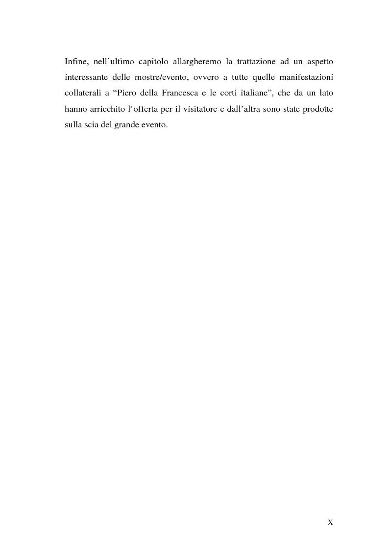 """Anteprima della tesi: Comunicare una mostra: """"Piero della Francesca e le corti italiane"""" Arezzo 22 Marzo - 31 luglio 2007, Pagina 8"""