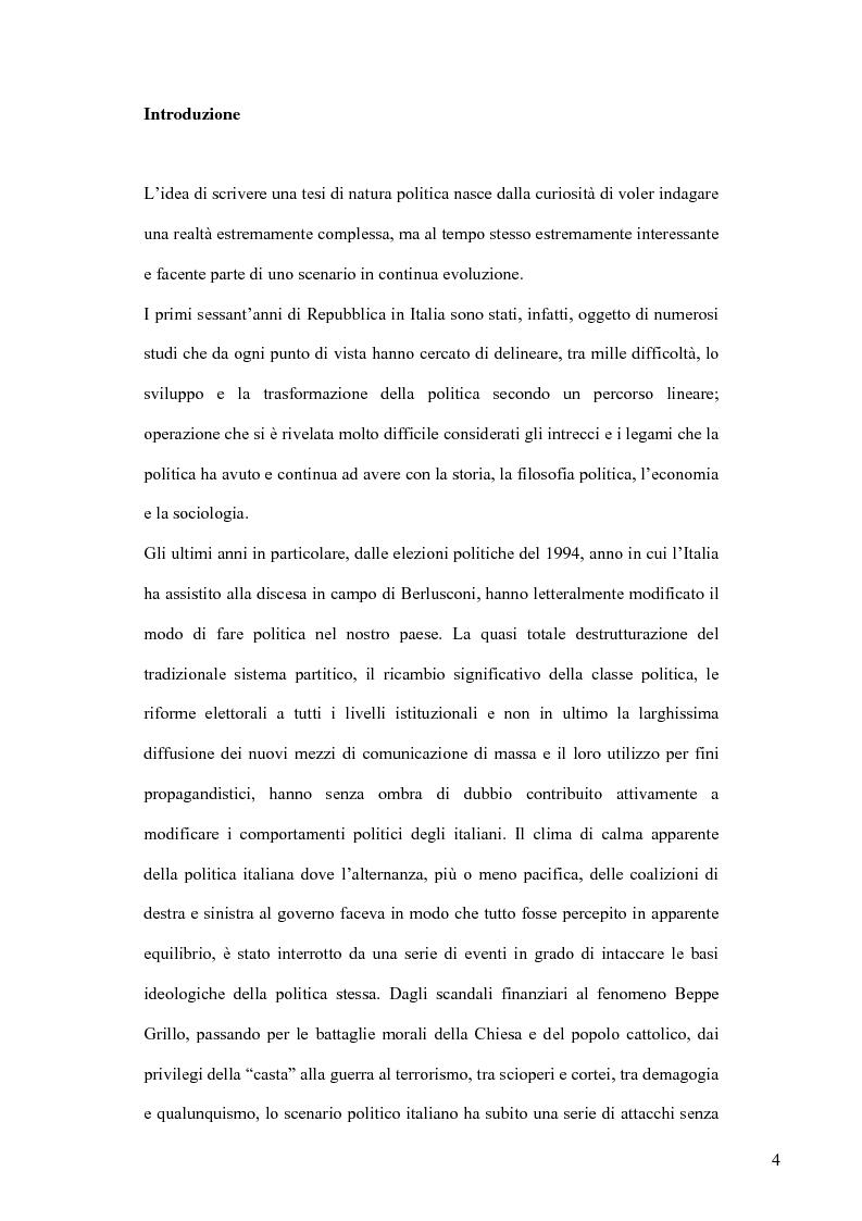 Anteprima della tesi: La sofisticazione politica: un contributo empirico, Pagina 1