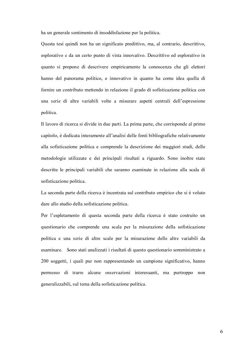 Anteprima della tesi: La sofisticazione politica: un contributo empirico, Pagina 3