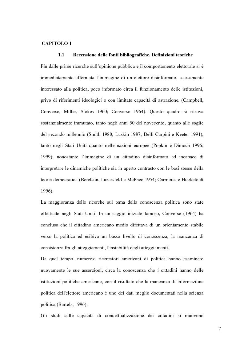 Anteprima della tesi: La sofisticazione politica: un contributo empirico, Pagina 4