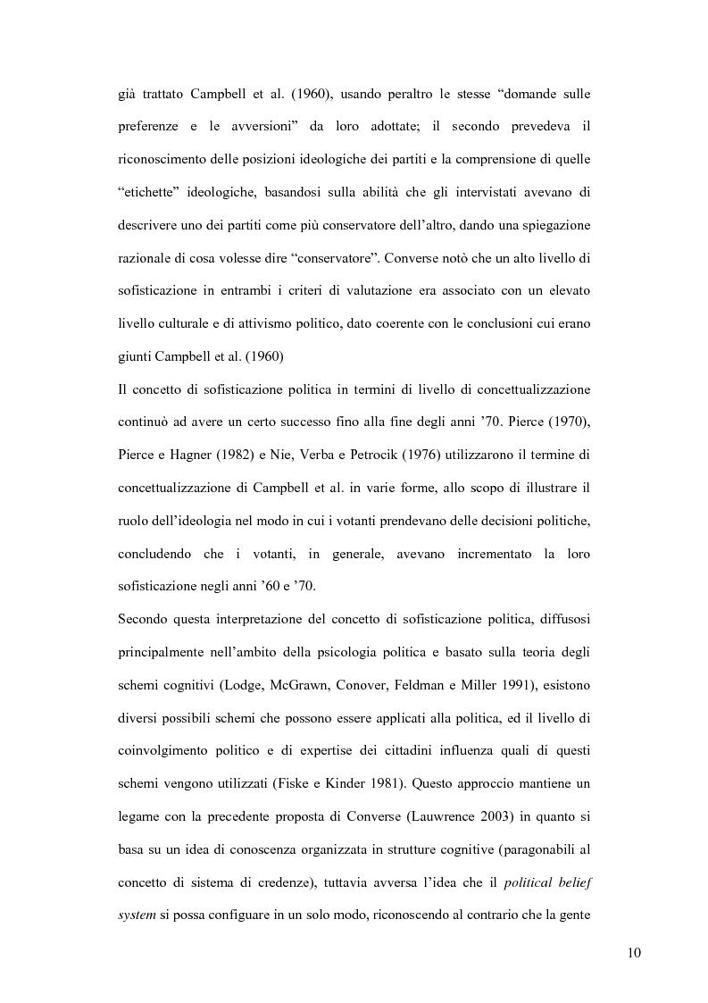 Anteprima della tesi: La sofisticazione politica: un contributo empirico, Pagina 7