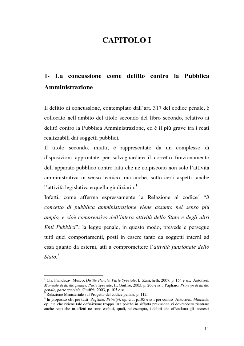Anteprima della tesi: La concussione, Pagina 6