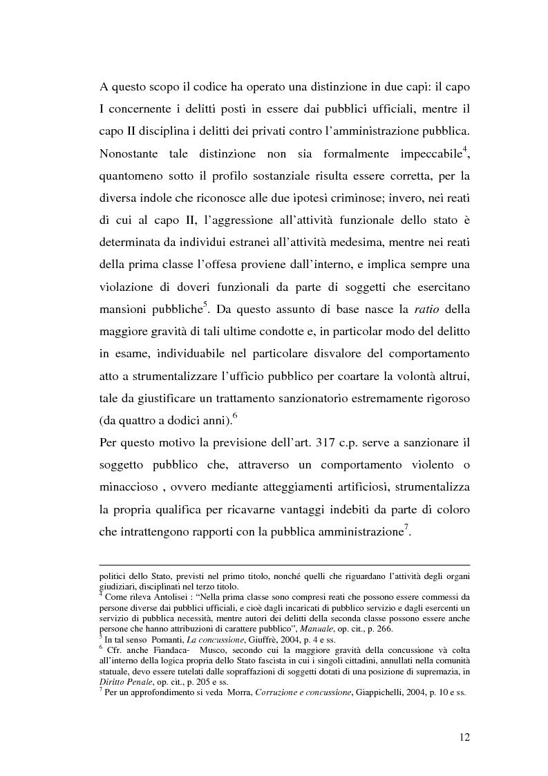 Anteprima della tesi: La concussione, Pagina 7
