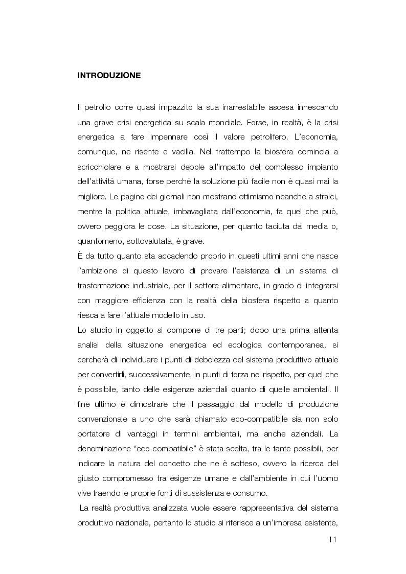Anteprima della tesi: Modello di conversione di un'azienda di trasformazione alimentare convenzionale in eco-compatibile, Pagina 3