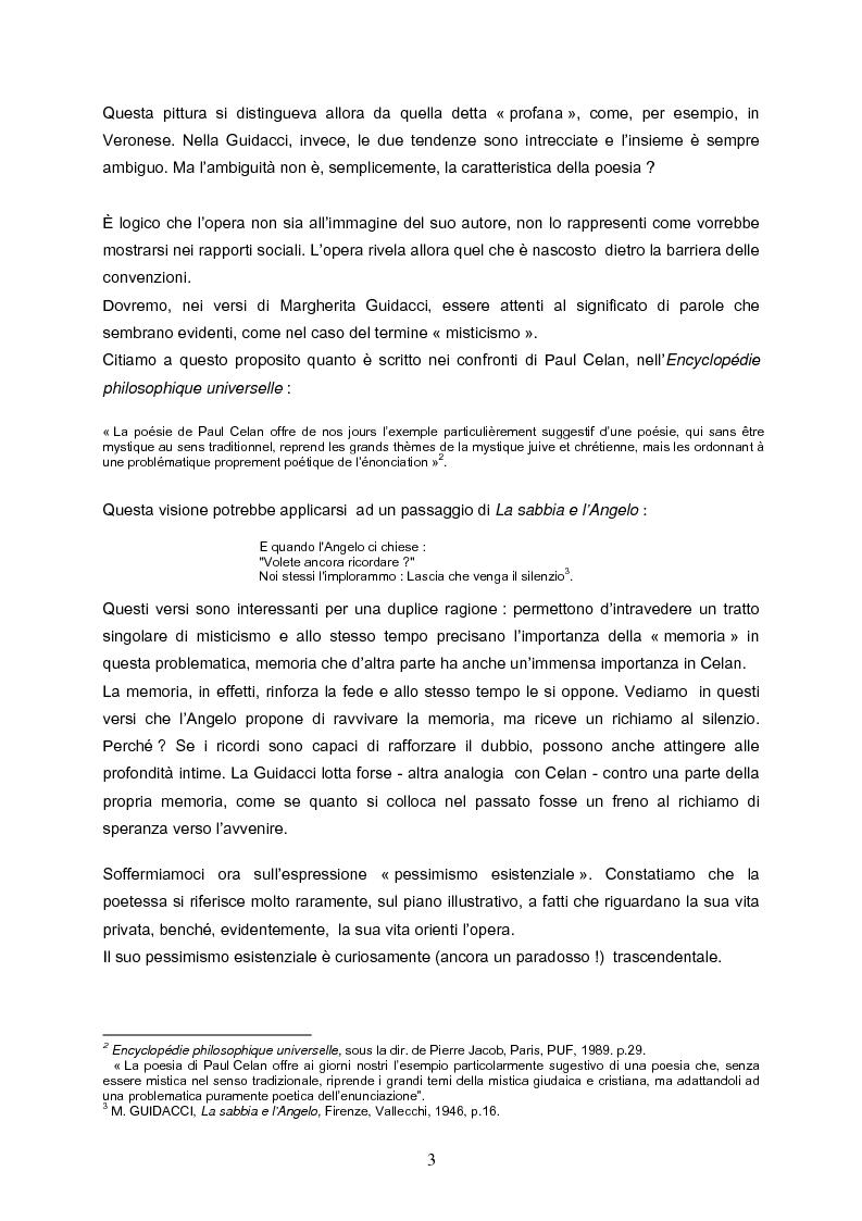 Anteprima della tesi: Speranza mistica e pessimismo esistenziale nell'opera di Margherita Guidacci, Pagina 2