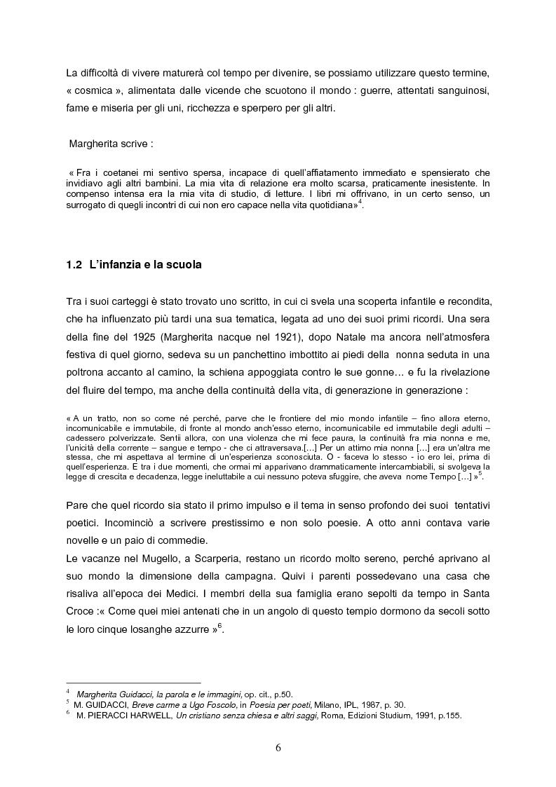 Anteprima della tesi: Speranza mistica e pessimismo esistenziale nell'opera di Margherita Guidacci, Pagina 5