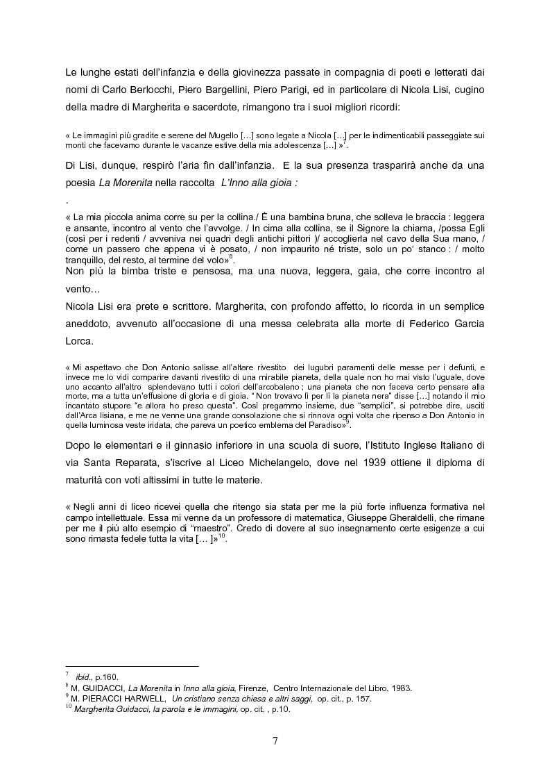 Anteprima della tesi: Speranza mistica e pessimismo esistenziale nell'opera di Margherita Guidacci, Pagina 6
