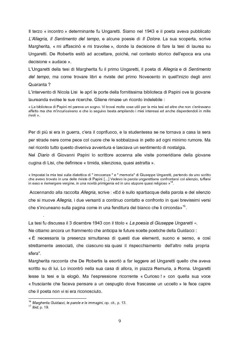 Anteprima della tesi: Speranza mistica e pessimismo esistenziale nell'opera di Margherita Guidacci, Pagina 8