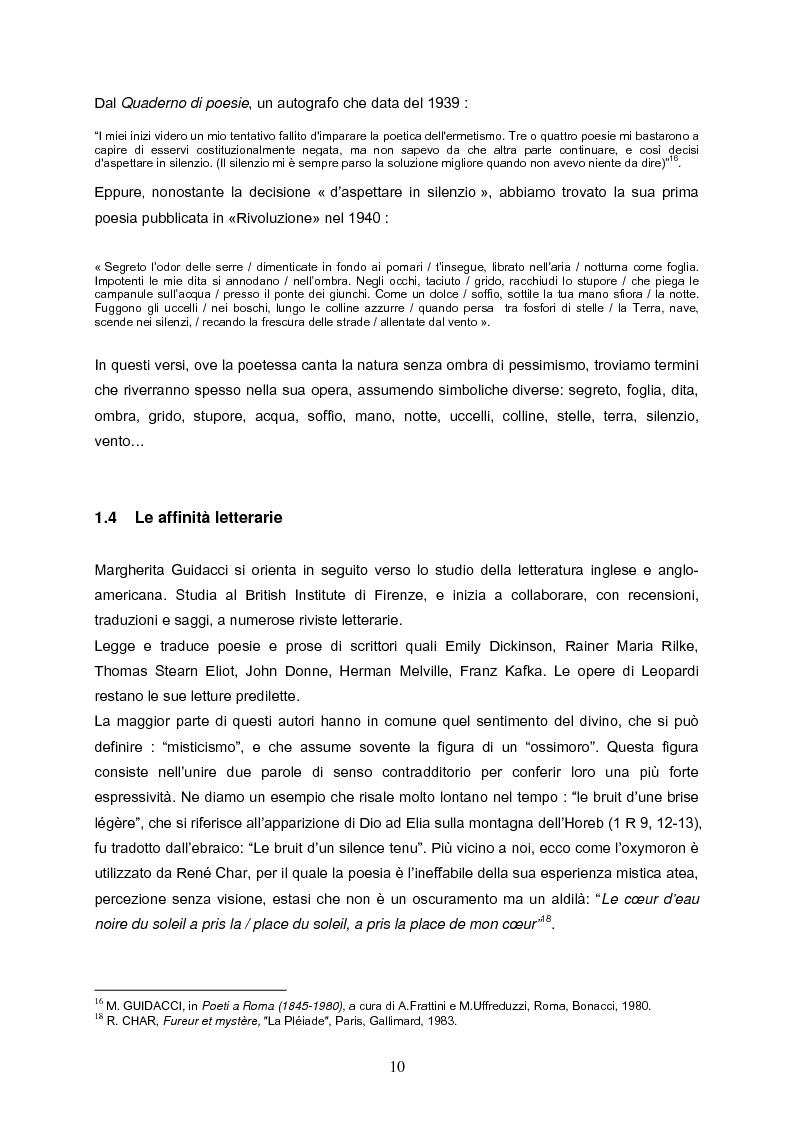 Anteprima della tesi: Speranza mistica e pessimismo esistenziale nell'opera di Margherita Guidacci, Pagina 9