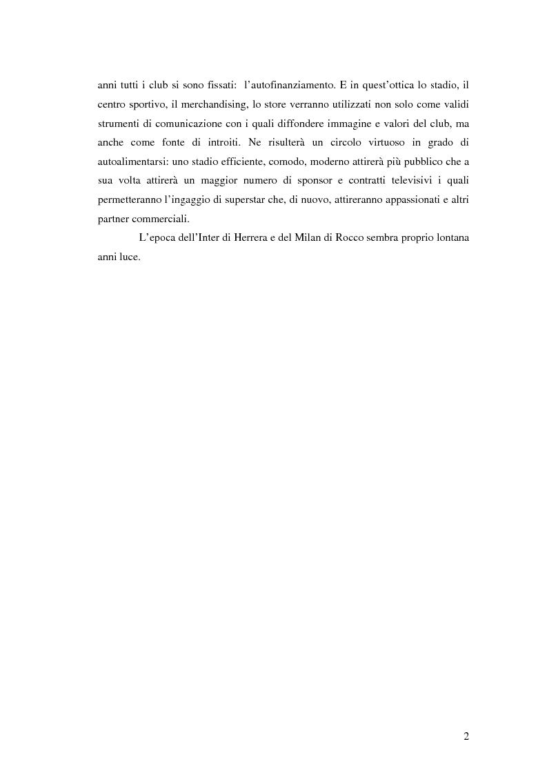 Anteprima della tesi: La comunicazione al servizio del nuovo ruolo imprenditoriale delle società professionistiche di calcio. Il caso del Bologna F.C. 1909., Pagina 2