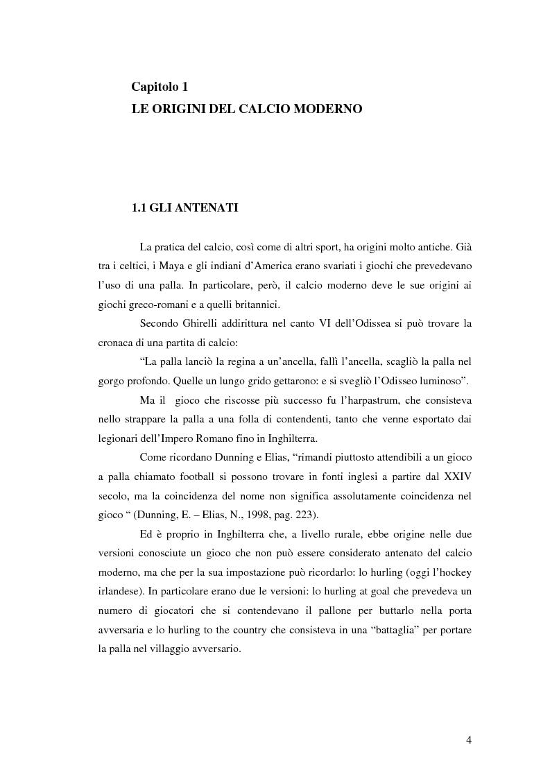 Anteprima della tesi: La comunicazione al servizio del nuovo ruolo imprenditoriale delle società professionistiche di calcio. Il caso del Bologna F.C. 1909., Pagina 4