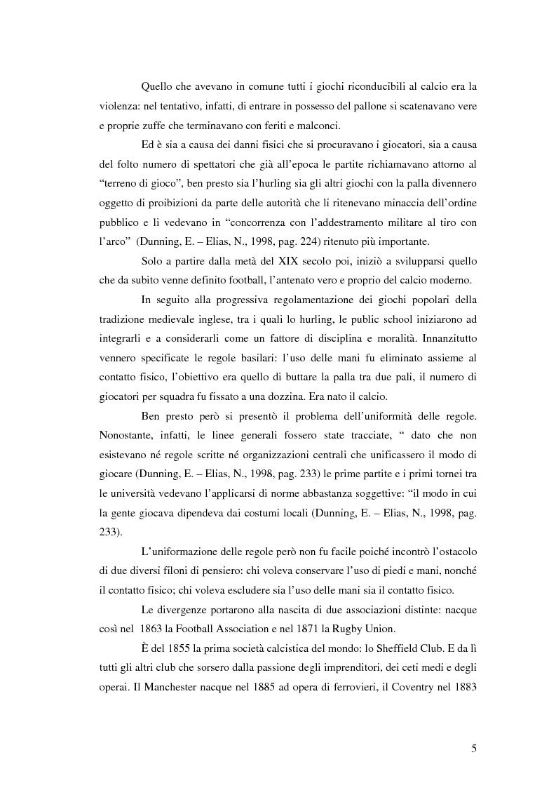 Anteprima della tesi: La comunicazione al servizio del nuovo ruolo imprenditoriale delle società professionistiche di calcio. Il caso del Bologna F.C. 1909., Pagina 5