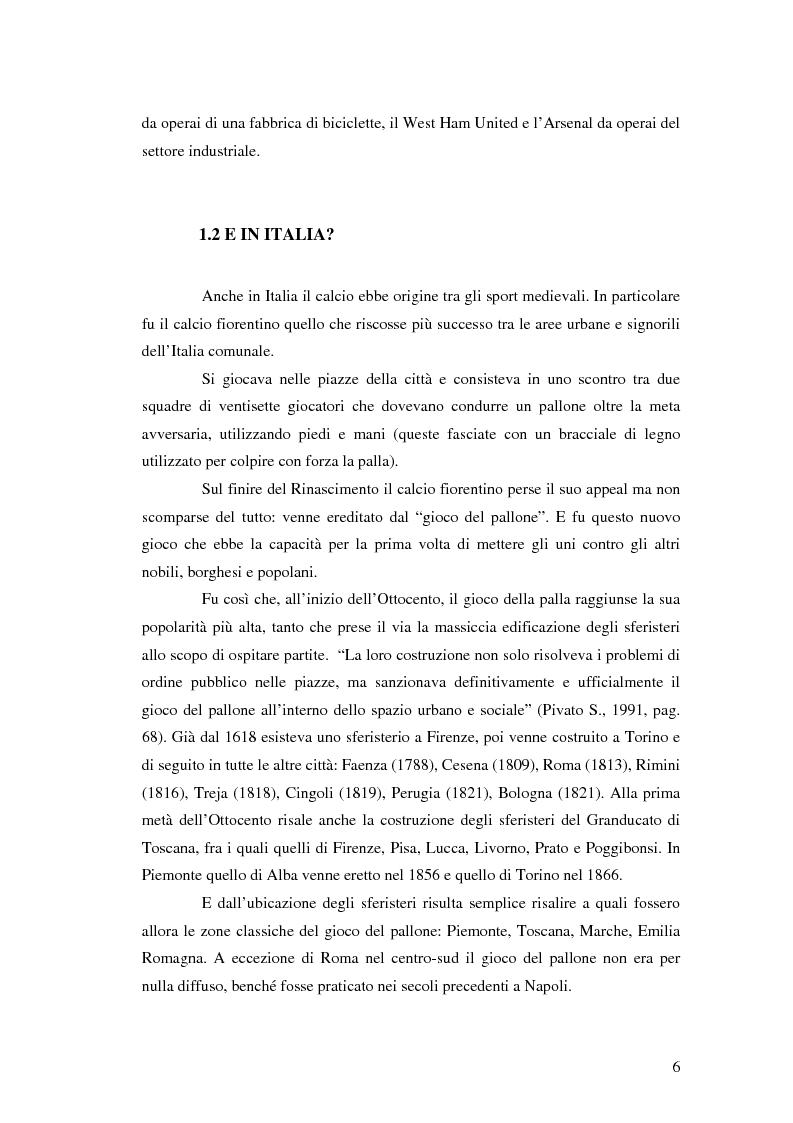 Anteprima della tesi: La comunicazione al servizio del nuovo ruolo imprenditoriale delle società professionistiche di calcio. Il caso del Bologna F.C. 1909., Pagina 6