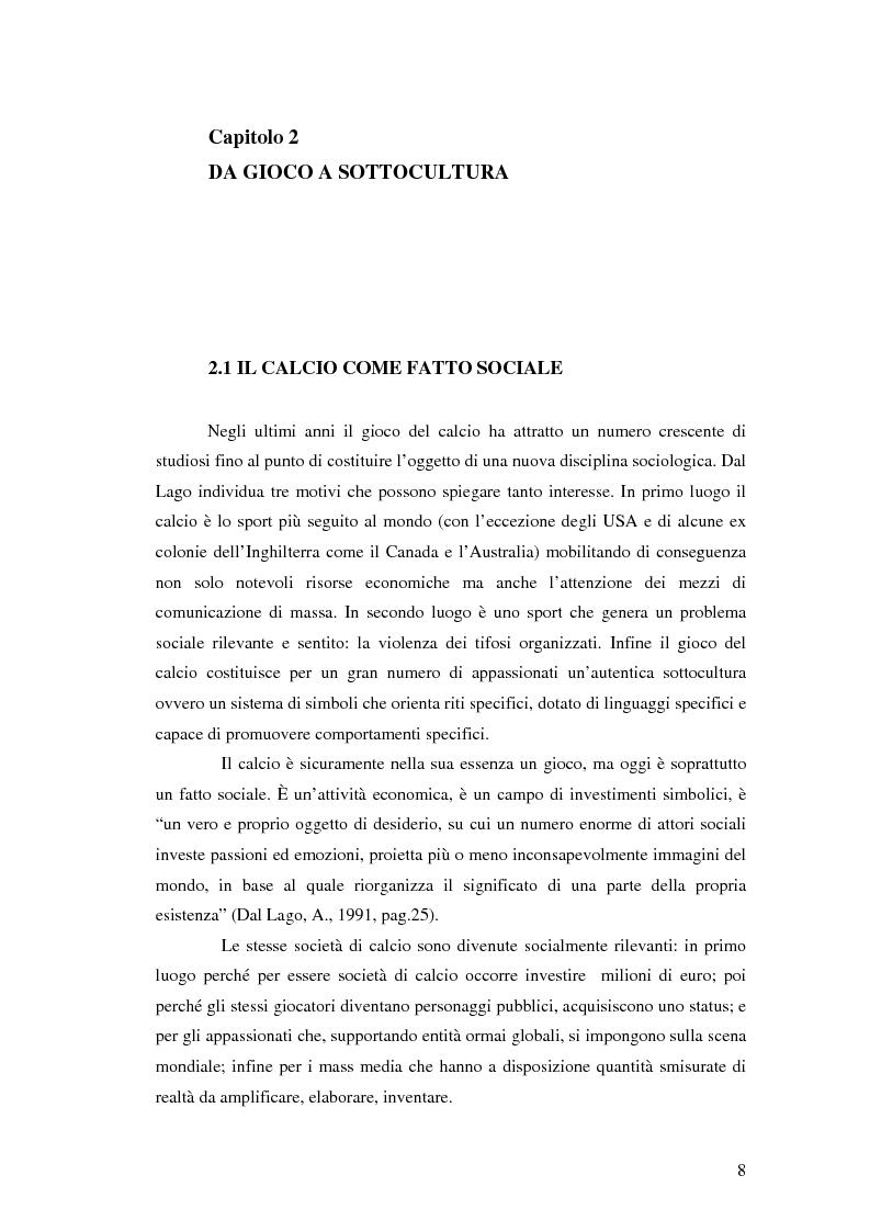 Anteprima della tesi: La comunicazione al servizio del nuovo ruolo imprenditoriale delle società professionistiche di calcio. Il caso del Bologna F.C. 1909., Pagina 8