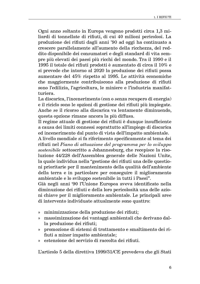 Anteprima della tesi: Il compostaggio, fase essenziale nel recupero agricolo dei rifiuti solidi, Pagina 6