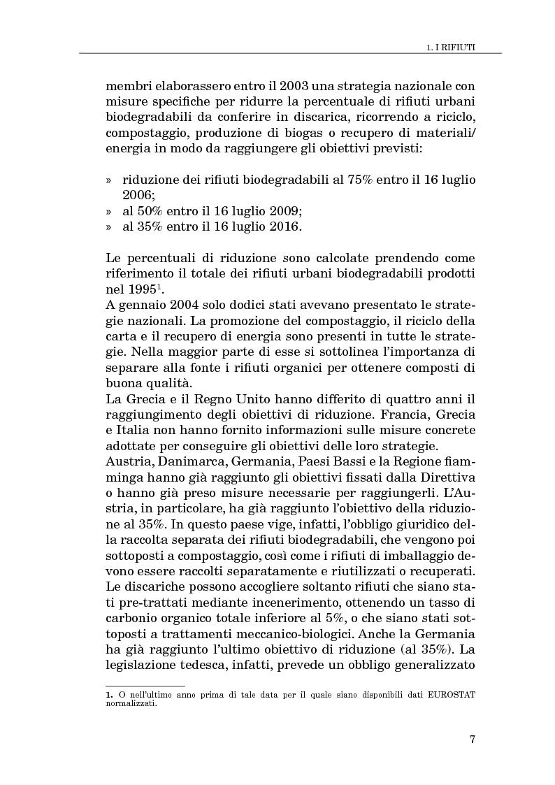 Anteprima della tesi: Il compostaggio, fase essenziale nel recupero agricolo dei rifiuti solidi, Pagina 7