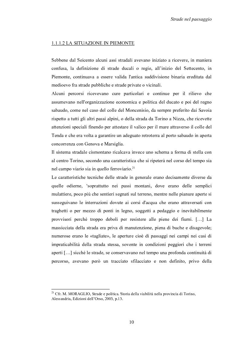 Anteprima della tesi: Nuove strade nel paesaggio - Studi di inserimento paesaggistico della circonvallazione di Carmagnola, Pagina 13
