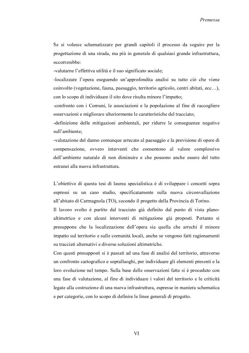 Anteprima della tesi: Nuove strade nel paesaggio - Studi di inserimento paesaggistico della circonvallazione di Carmagnola, Pagina 2