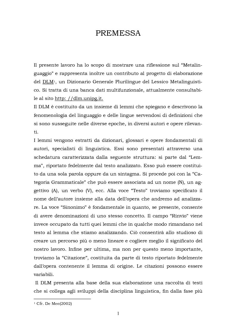 Anteprima della tesi: Il metalinguaggio di Robert Lado, Pagina 1