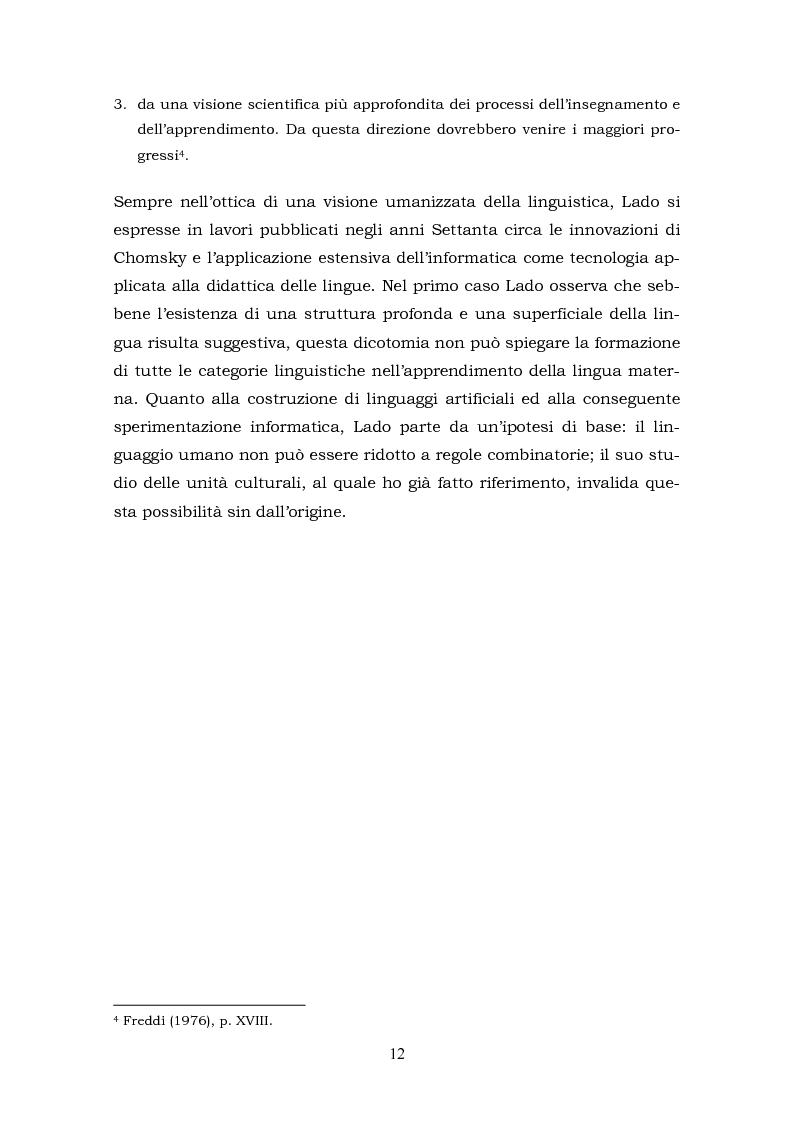 Anteprima della tesi: Il metalinguaggio di Robert Lado, Pagina 12