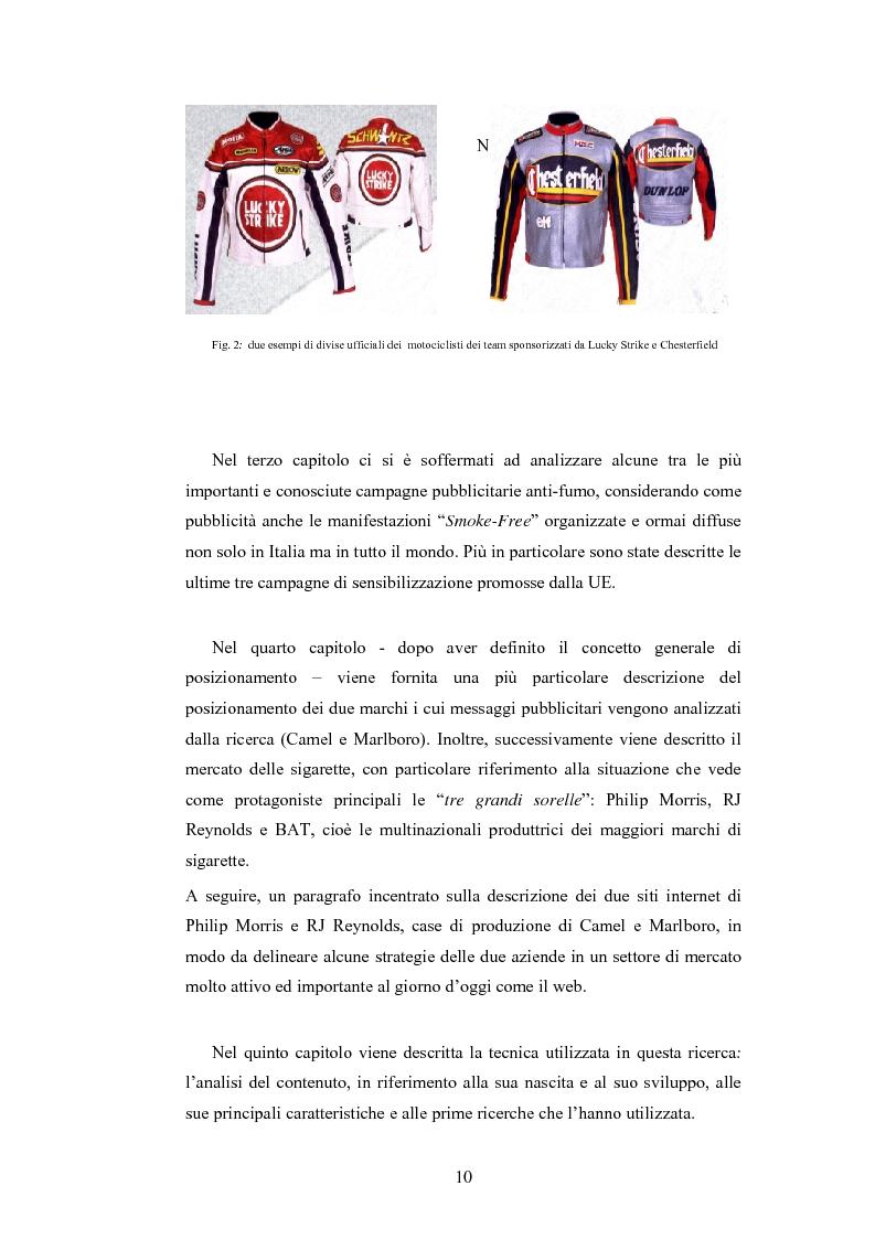 Anteprima della tesi: Analisi della comunicazione pubblicitaria delle sigarette: due marchi a confronto, Pagina 6