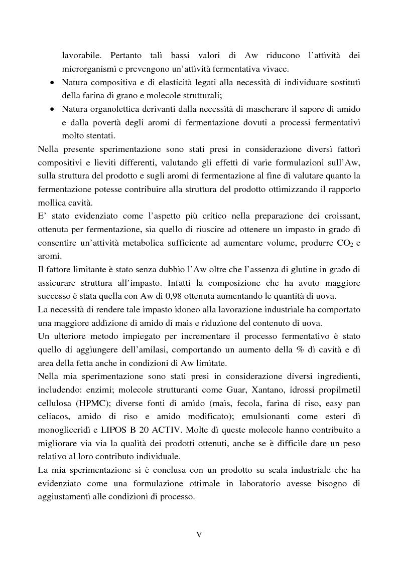Anteprima della tesi: Ottimizzazione delle proprietà funzionali ed organolettiche di prodotti da forno per celiaci, Pagina 2