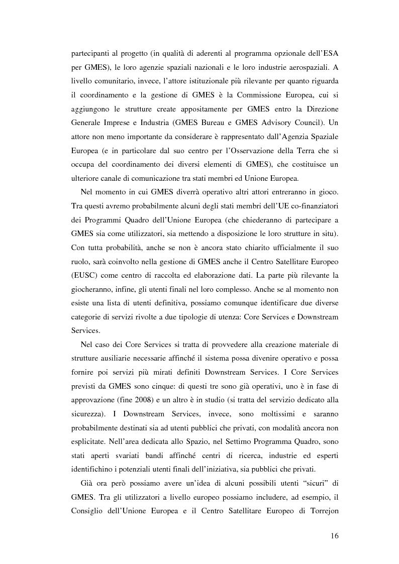 Anteprima della tesi: L'iniziativa Global Monitoring for Environment and Security (GMES), Pagina 11
