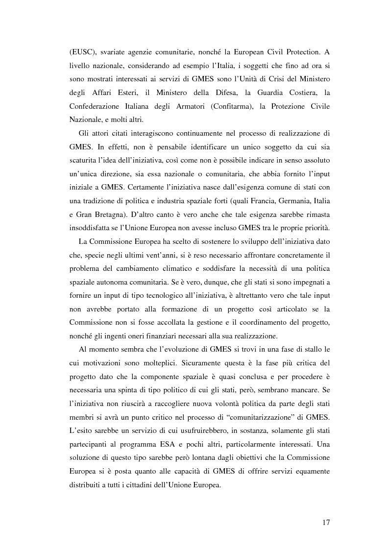 Anteprima della tesi: L'iniziativa Global Monitoring for Environment and Security (GMES), Pagina 12