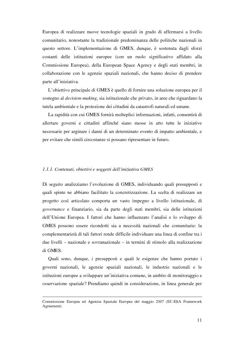 Anteprima della tesi: L'iniziativa Global Monitoring for Environment and Security (GMES), Pagina 6