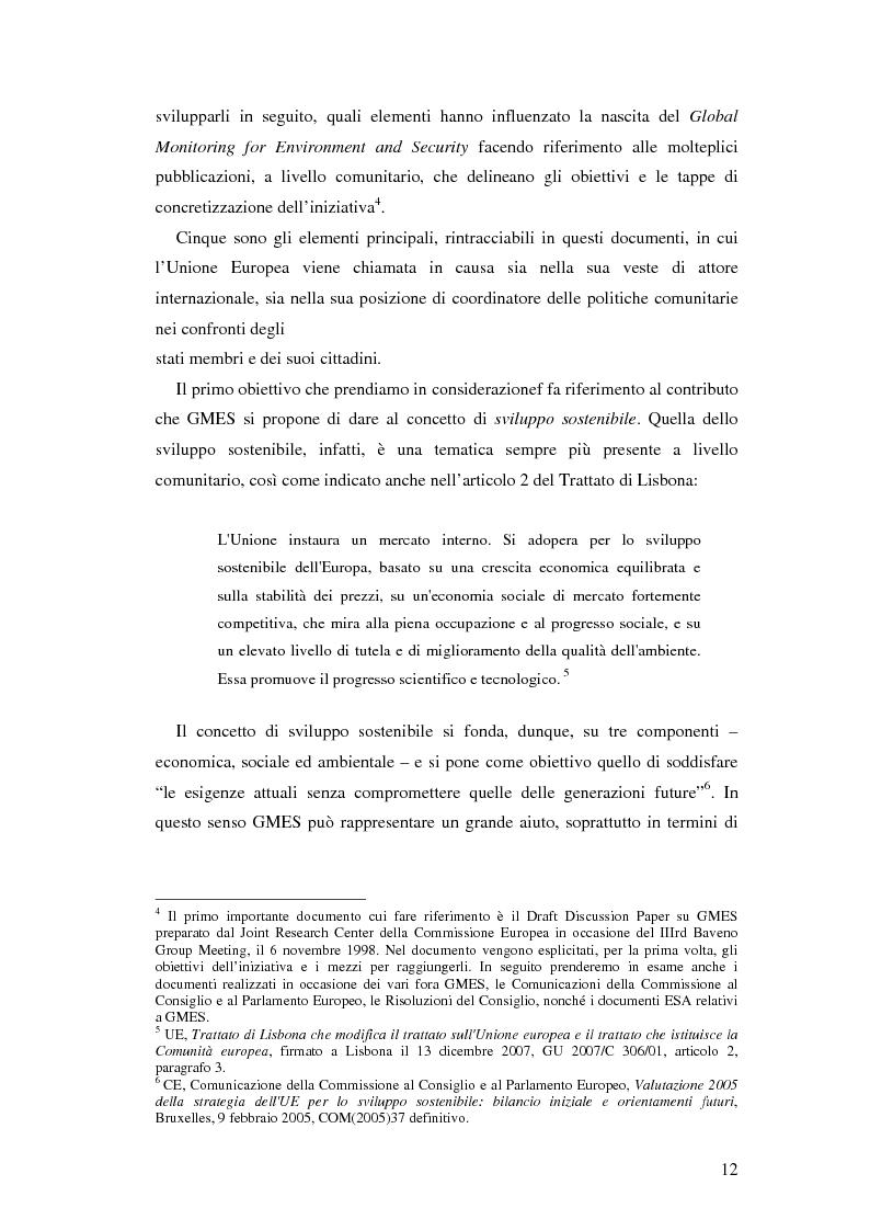 Anteprima della tesi: L'iniziativa Global Monitoring for Environment and Security (GMES), Pagina 7