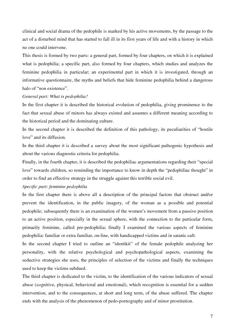 Anteprima della tesi: Feminine pedophilia, Pagina 2