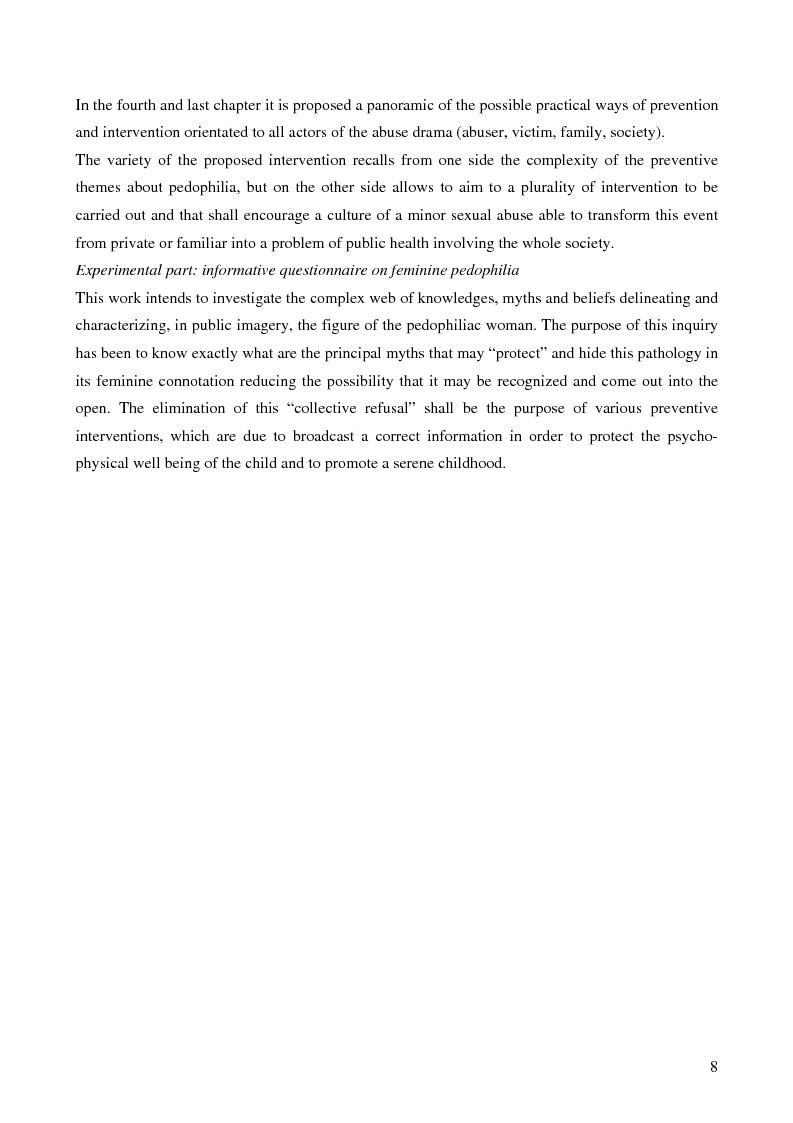 Anteprima della tesi: Feminine pedophilia, Pagina 3