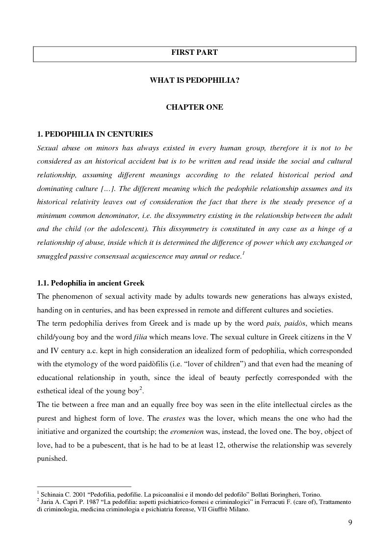 Anteprima della tesi: Feminine pedophilia, Pagina 4