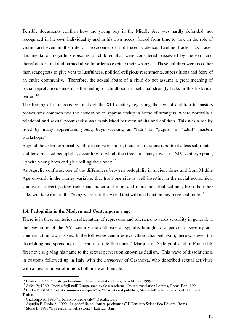 Anteprima della tesi: Feminine pedophilia, Pagina 7