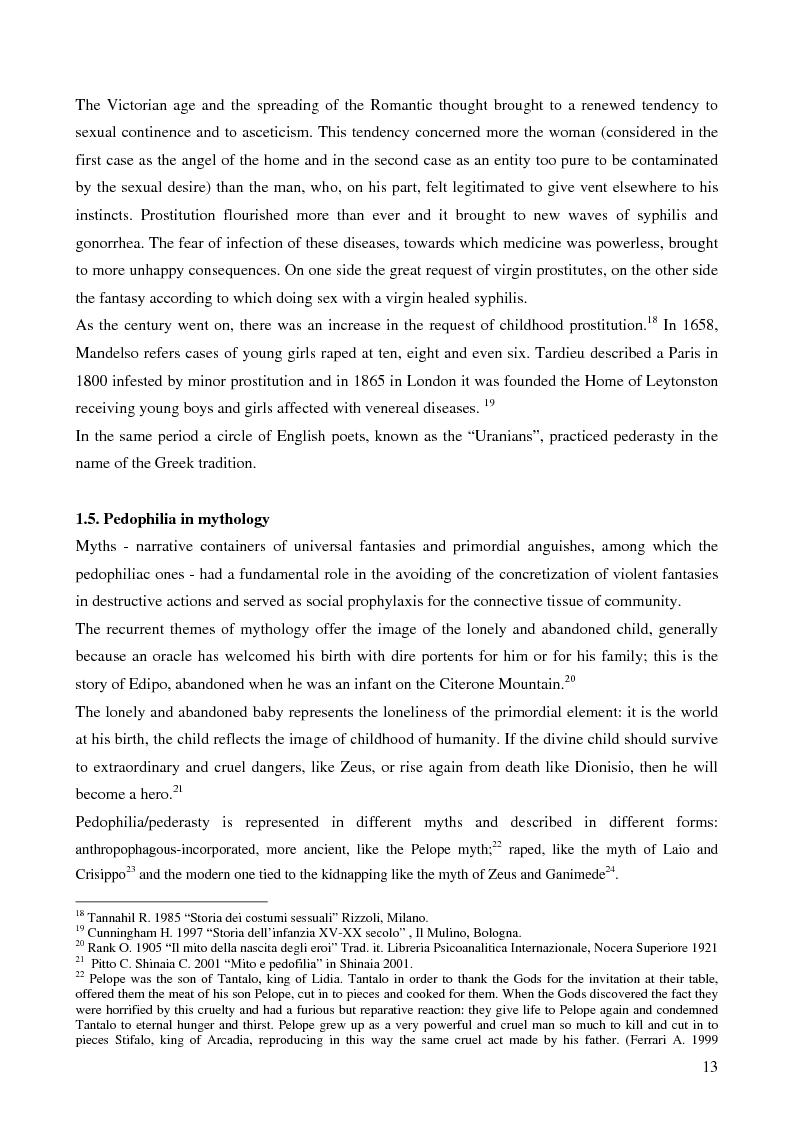 Anteprima della tesi: Feminine pedophilia, Pagina 8