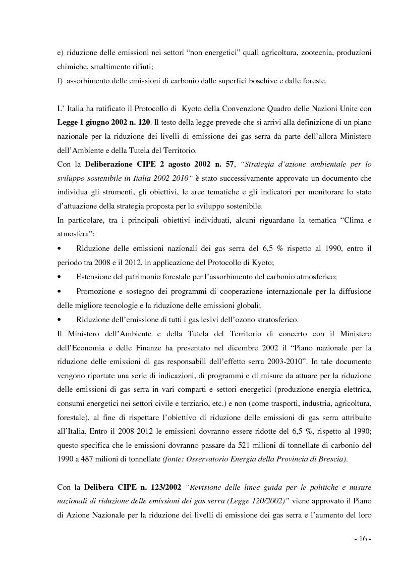 Anteprima della tesi: Analisi e valutazione delle tecnologie energetiche nell'ambito della pianificazione energetico-ambientale della Regione Lombardia. Il caso studio Kyoto Enti Locali., Pagina 13
