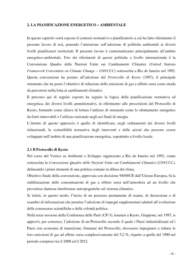 Anteprima della tesi: Analisi e valutazione delle tecnologie energetiche nell'ambito della pianificazione energetico-ambientale della Regione Lombardia. Il caso studio Kyoto Enti Locali., Pagina 3